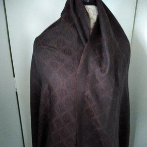 Gucci Male/Female Brown GG Monogram Scarf Wool/Sil